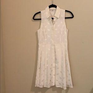 Rachel Roy white sleeveless dress with elephants